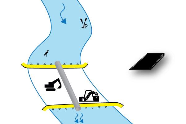 Ковердэмский речной канал вниз по течению