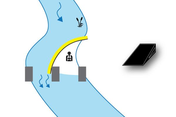 Пример 3 Перемычка, опирающаяся на устой моста