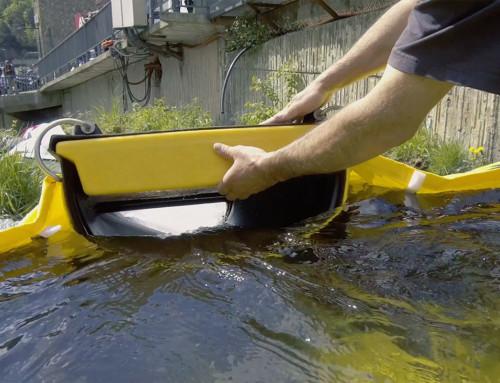 Плавающая дамба для улавливания нефтепродуктов