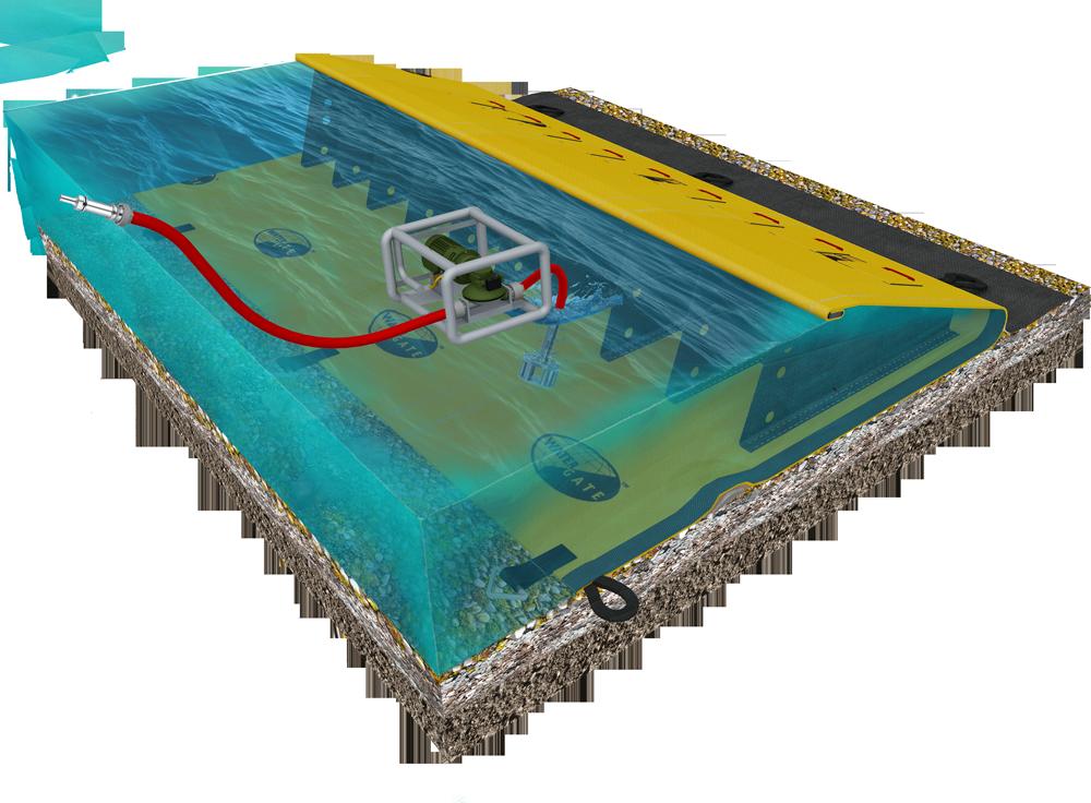 принцип водозаборной плотины для наружной противопожарной защиты