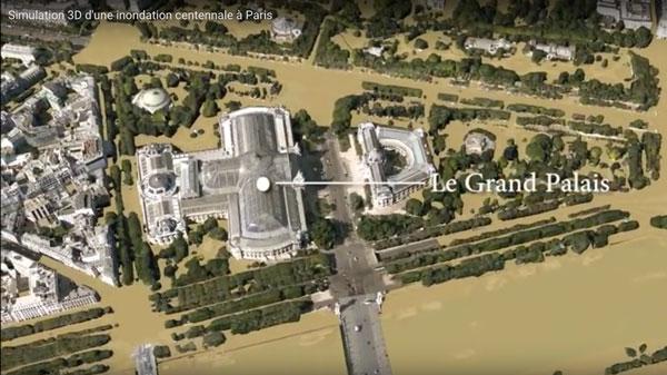 simulation de crue à Paris