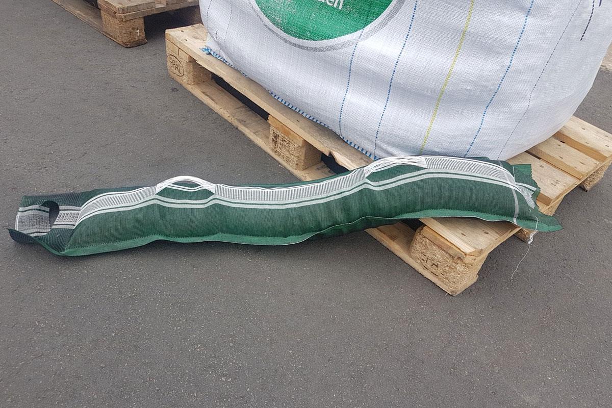 Les sacs de lestage sont utiles pour bien installer les barrières souples anti-inondation