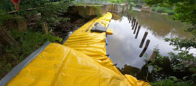 Отклонение рукава реки гибкой перемычкой Water-Gate ©   Ремонт веялки Bruche в Муциге