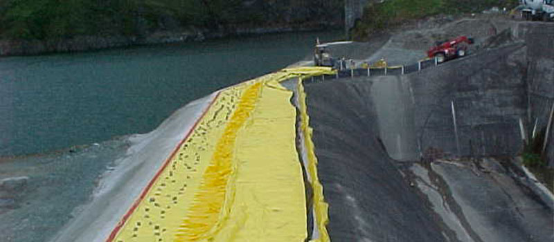 Плотина Фортуна | Панама | Отметка водосброса плотины ГЭС.